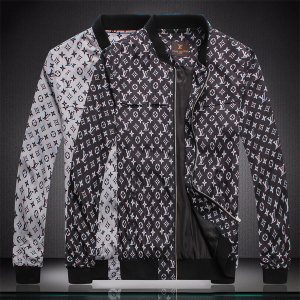Neue Marke schwarz-weiß High Street Coat Jacke Herren Boutique Mode 3D überprüft Jacke Jacke Dama m-4xl