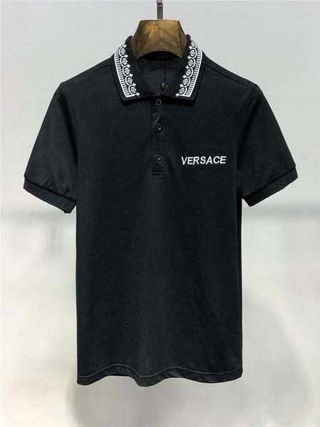 2019 горячая распродажа лето бренд дизайнер мужской одежды белые футболки печати мода тройники евро размер M-3XL