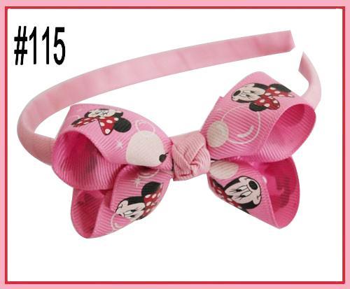 free shipping 120pcs 2.5-3'' New fashion Boutique Girl Headbands hair bow clips character girl headbands hard headbands