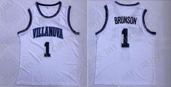 Ucuz özel Jalen Brunson herhangi bir ad numarası BAY BAYAN GENÇLİK JERSEY 1. Villanova Wildcats Koleji Erkekler Basketbol Jersey Dikişli özelleştirme