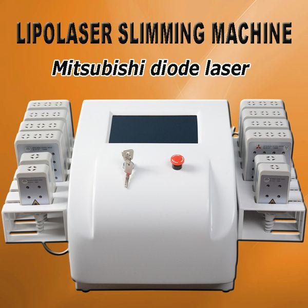 sistema laser lipo diodo lipolaser attrezzature dimagranti trattamenti per la pelle laser per il corpo Dual lunghezza d'onda 650nm e 980nm