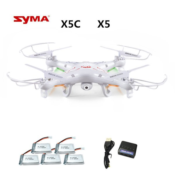 Syma X5c X5c-1 ( Drone With 2.0mp Camera ) Rc Drone Quadcopter Or Syma X5 X5-1 (no Camera) 2.4g 4ch Dron Rc Quadcopter Toy T190621