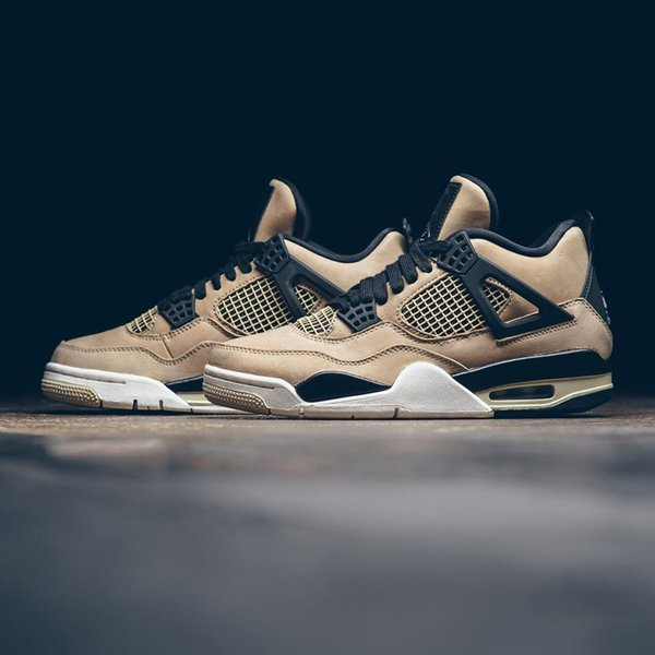 2019 Stampa autentici 4 funghi Retro AQ9129-200 IV 4s Uomo Scarpe Donna di pallacanestro delle scarpe da tennis di sport con la scatola originale Discount