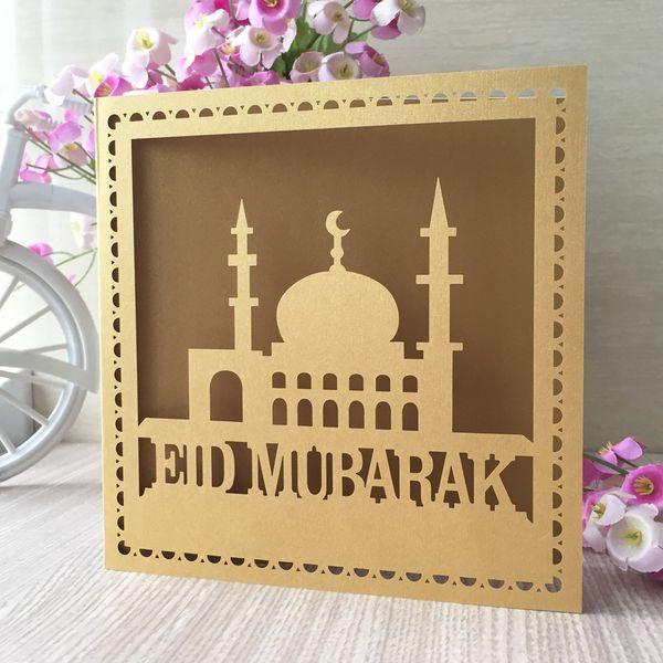 Compre 45 Unids Lote Al Por Mayor Eid Mubarak Festival Cena Tarjeta De Invitación De La Fiesta De Cena Familiar Invitación De Boda Tarjetas