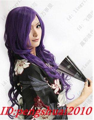 Free Shipping Hot fashion long Purple big spiral Cosplay women's heat resistance hair Wig Wigs