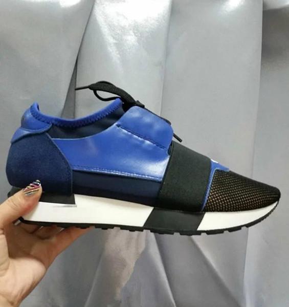 Paris Brand Whole Blue Casual Shoe Man Woman Fashion Designer Pointed Toe Lace Up Cheap Sneaker Mesh Trainer Shoes Wholesale Size 35-46