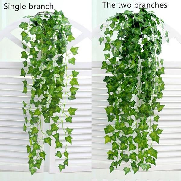 Suspendu vigne feuilles artificielle verdure plantes artificielles feuilles guirlande maison jardin décorations de mariage décoration murale livraison gratuite 1036H