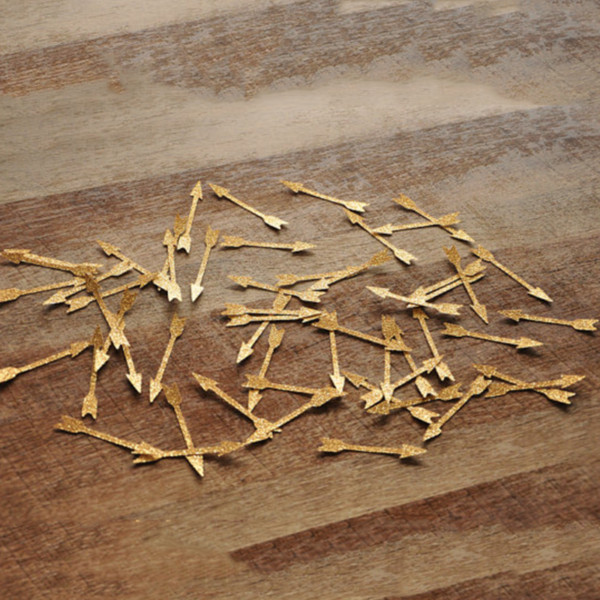 1pack Creative arrows confetti, One year party decorations, tribal shower, babys 1st birthday, gold arrow confetti party decor