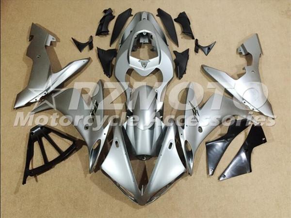 Новые ABS Молдинг мотоциклы обтекатели комплекты Fit для Yamaha YZF-1000-R1 2004 2005 2006 04 05 06 Обтекателя кузовного набора серебра прохлады