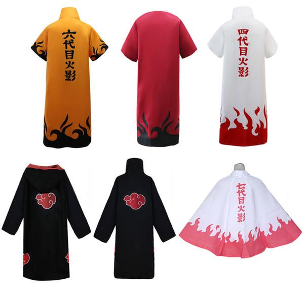 Anime Naruto Cosplay del traje de Akatsuki Capa Hombres Itachi Uchiha Sasuke Capa del traje de Halloween del Cabo Carnaval Fantasía Ropa