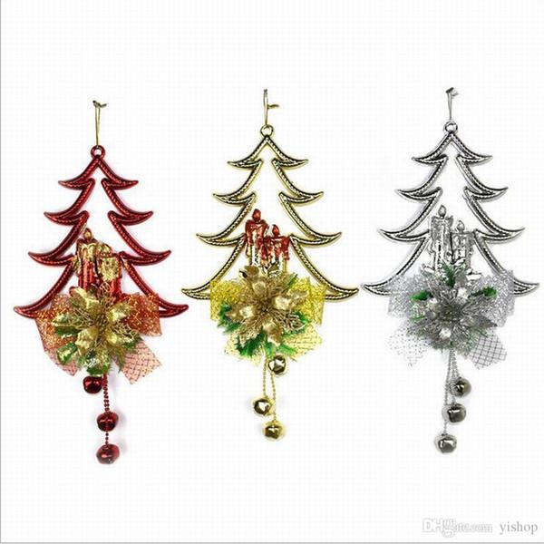 Christmas Bells String Pendants Ornament Christmas Tree Decor Hanging Christmas Ornament Home Hotel Decoration Xmas Gift