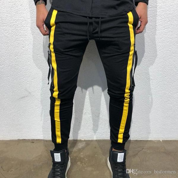 Die Hosen der Mode-Hip Hop-Männer mit Reißverschluss-dünnem männlichem populärem Sport keucht die Hosen der europäischen heißen Art-beiläufigen Männer