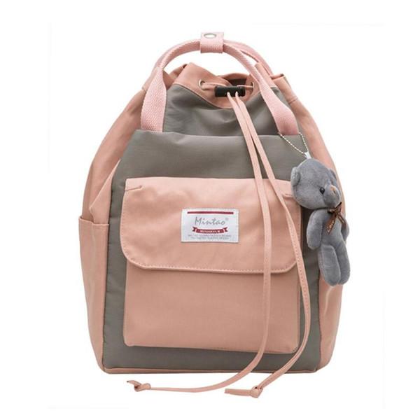 64be850a215 Women Large Canvas Drawstring Backpack Fashion Teenage Girls School Bag  Female Preppy Style Bear Handbag Travel Shoulder Bag Best Laptop Backpack  ...