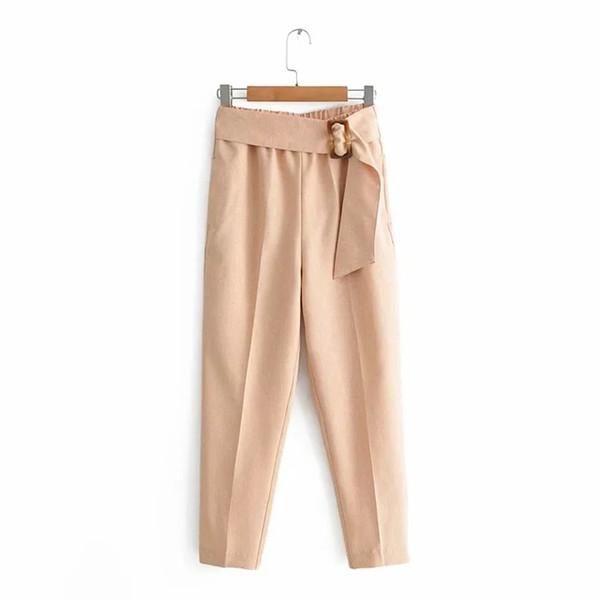 Summer Harem Pants Women Suit Pants Women High Waist Pencil Pants Belt