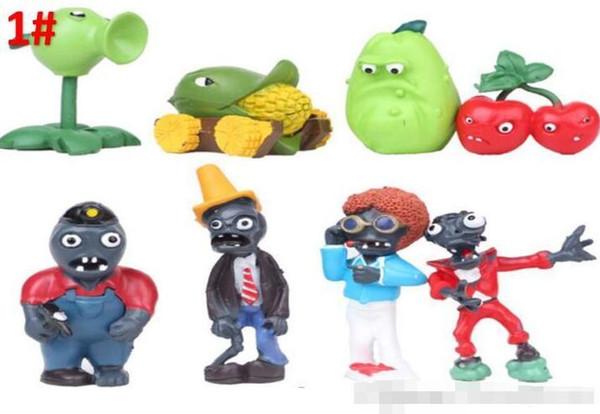 PVZ Plantas vs Zombies PVC Figura Brinquedos Coleção Brinquedos Para Crianças 3-8 cm Frete Grátis