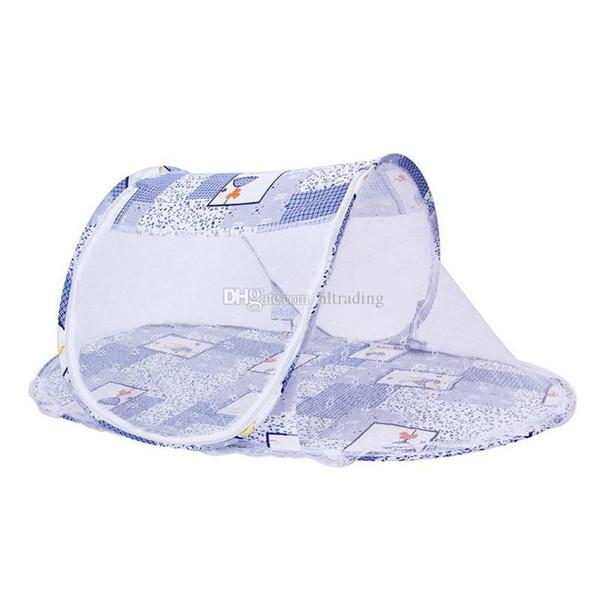 Портативный новорожденный ребенок детская кровать Детская кровать складной москитная сетка младенческая подушка матрас мобильных постельных принадлежностей шпаргалки сетки 110*60*38см Юрт C6682
