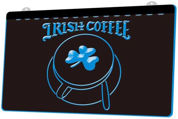 LS1167-B-İrlanda-Kahve-Fincan-Dükkan-Shamrock-Neon-Işık-Sign.jpg Dekor Ücretsiz Kargo Dropshipping Toptan 8 renk seçmek için