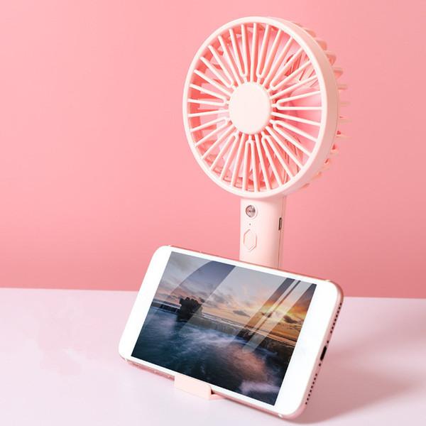 best selling New multifunctional small fan mobile phone support fan dormitory desk gift mini creative fan dhl free