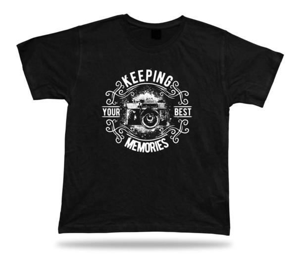 Tshirt Tee Shirt Birthday Gift Idea Keeping Memories Camera Picture Emblam Shoot