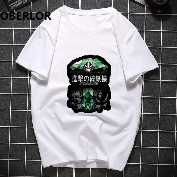 Мужская мода нападение на 2019 уничтожитель аниме тройник рубашка сорочка бренд Harajuku забавный футболки Тамблер готические футболки