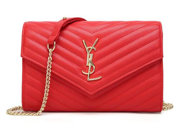 Free shipping Wholesale fashion ladies roe leather cross brand handbag classic lady cover tassel chain shoulder bag 2052 Free transportation