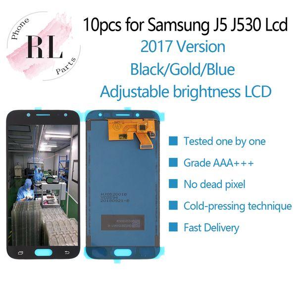 10 PZ per display LCD luminosità regolabile Samsung Galaxy J5 2017 J530 SM-J530F Schermo LCD Touch Screen Digitizer per J5 Pro Spedizione Gratuita