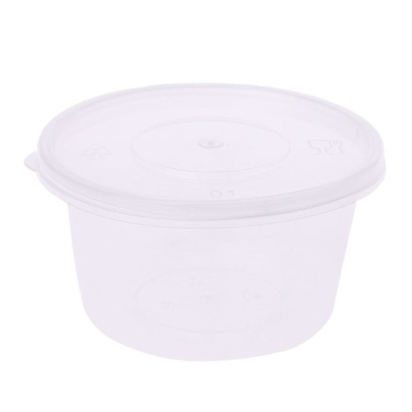 Hot Sell 10pcs Kitchen Disposable Plastic Sauce Cup Pot Chutney Container With Lid Slime Storage Box Case 100ml