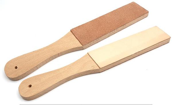 Mayitr Ahşap Saplı Deri Bileme DIY Ev Mutfak Bıçakları Aksesuar Bileme Strop El Yapımı Jilet Parlatma Kurulu Aracı