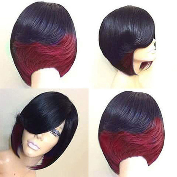 Wig Ladies Fashionable Natural High Temperature Resistant Wigs Silk Short Straight Hair Wig