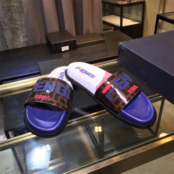 Mens Designers Slippers Brand Letters Desinger Slides Flip Flops Summer Skid Resistance Beach Flat Slippers Shoes 2 Colors Optional
