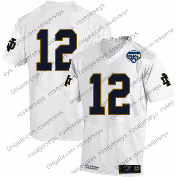 c7d698e27 Mens NCAA Notre Dame Fighting Irish  3 Joe Montana  7 Wimbush  12 Ian Book  2018 Shamrock Series Pinstripe Navy Blue No Name Jerseys