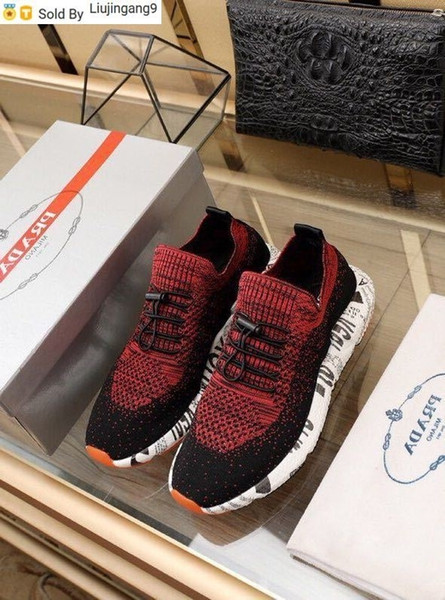 Liujingang9 Elastic cloth red running shoes Men Dress Shoes Moccasins Loafers Lace Ups Monk Straps Boots Drivers Real leather Sneakers