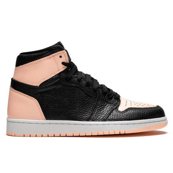 Con caja Nuevo 2019 1s Crimson Tint Zapatillas de baloncesto para hombre Zapatillas de deporte Negro Rosa 555088-081 Hombres Zapatillas deportivas de diseñador