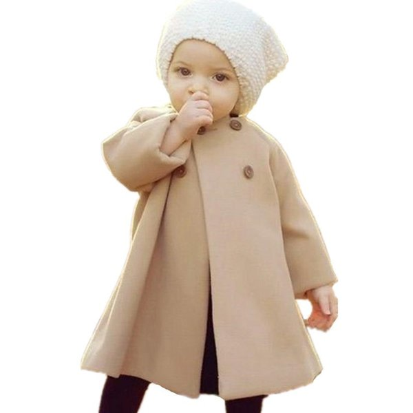 Autumm Winter Trench Coats For Girls Overcoat Kids Clothes Windbreaker Baby Palto Jackets Children Clothing Cocuk Girl Outerwear