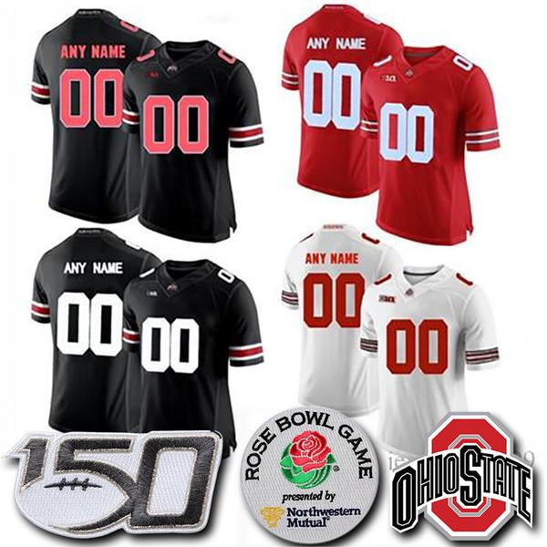 Пользовательские штат Огайо Бакии Дуэйн Хаскинс-младший Джерси Филдс Джордж Доббинс Red OSU College Jerseys Football