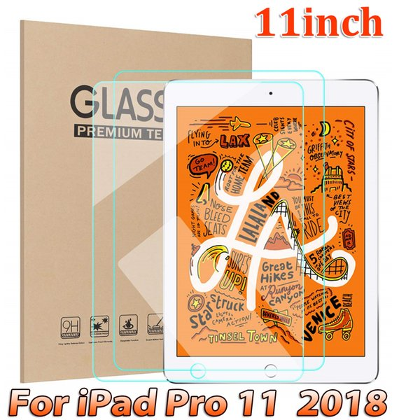 Tablet Pad Tempered Glass Screen Protector for IPAD PRO 11 inch 2018 tempered Glass Film in retail package dhl free shipping