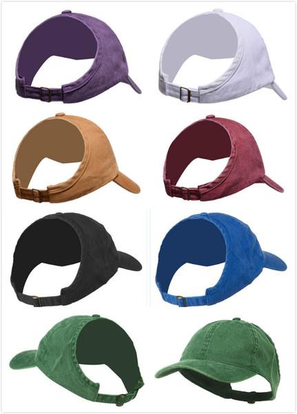 2019 женская бейсболка с хвостиком Полупустая верхняя часть Visor Messy Bun Snapback Cap Натуральные волосы Шляпы папа афро Вьющиеся волосы Шапка без спинки