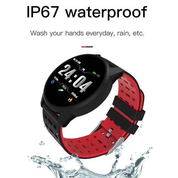 Bluetooth Smart Watch Sports Fitness Tracker Presión arterial Sleep Monitor Bluetooth Smart Pulsera Pulsera Smartwath