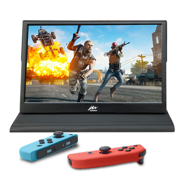 15.6 inch 11mm 1080P IPS HD Portable LCD Monitor with Dual Mini HDMI USB Powered with Leather case ps3/ps4 Laptop Raspberry pi