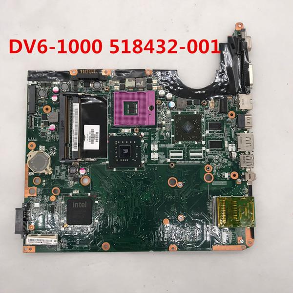 Alta qualità Per la scheda madre del computer portatile DV6 DV6 DV6-1000 DV6T 518432-001 Intel P45 DDR3 completamente testata al 100%