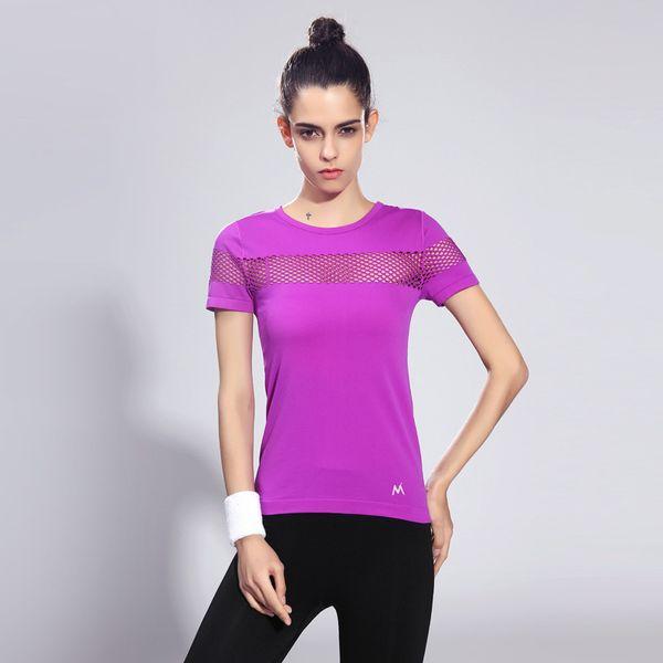 Kısa Kollu Dış Giyim Hızlı Kuruyan T-Shirt Spor Kadın Giyim Yaz Sürme Vücut Geliştirme Run Kendini Yetiştirmek Moda 27sff1