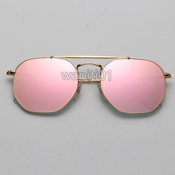 Gradiente de ouro / espelho rosa