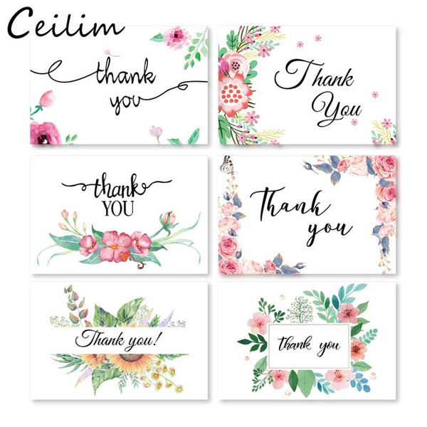 6 card + 6 envelope per set cartoon mini greeting thank you card birthday christmas gift card envelope writing paper stationery wholesale