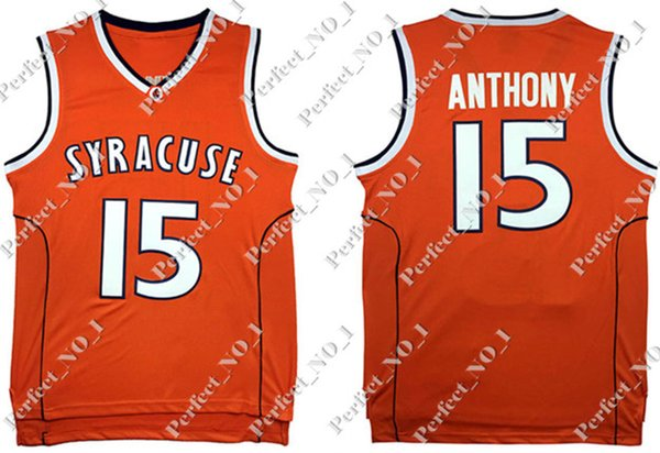 2019 Ncaa Syracuse College 15 Carmelo Anthony Basketball Jersey Orange Men S Embroidery Stitched Jerseys Cheap Wholesale From Perfect No 1 19 59