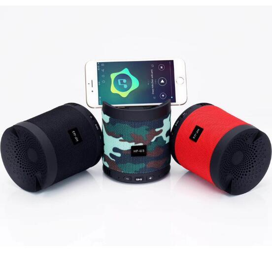 Top Sounds Quality HF-U3 Wireless Bluetooth mini speaker Outdoor Waterproof Bluetooth Speaker Can Be Used As Phone Holder