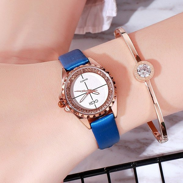 Fashion Women Watches Best Sell Small Dial Clock Luxury Rose Gold Women's Bracelet Quartz Wrist Watch Ladies Watch Dropshipping