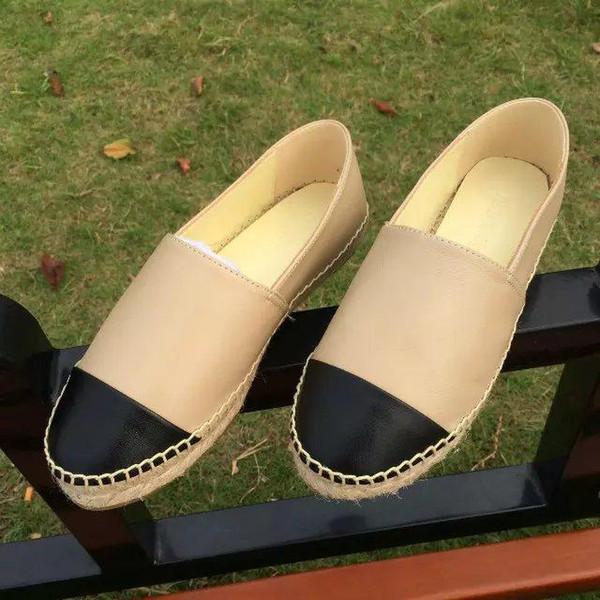 Новая мода Холст и Натуральная овечья шкура женщины Эспадрильи Плоские туфли Летние мокасины Эспадрильи Размер EUR34-42 Много цветов с коробкой