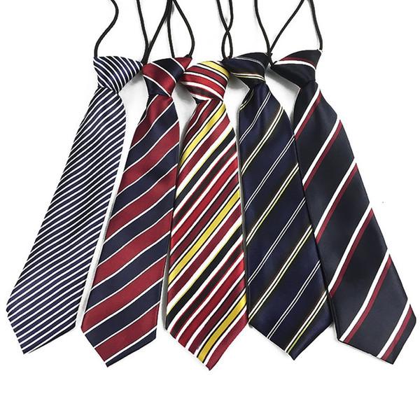 New Stripe Plaid satin cravate école élastiques Petits garçons Enfant Bébé Accessoires de mariage Party Mode Ties Cravates