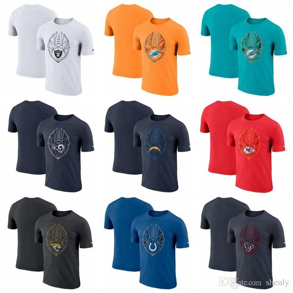 NEW 2019 Men t shirts Fan Gear Icon Performance T-Shirt Texans Colts Jaguars Chiefs Chargers Dolphins