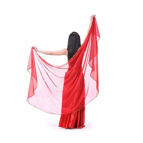 Stage Performance Belly Dance Scarf Shawl Light Texture Half Circle Veils Professional Women Chiffon Belly Dance Veil